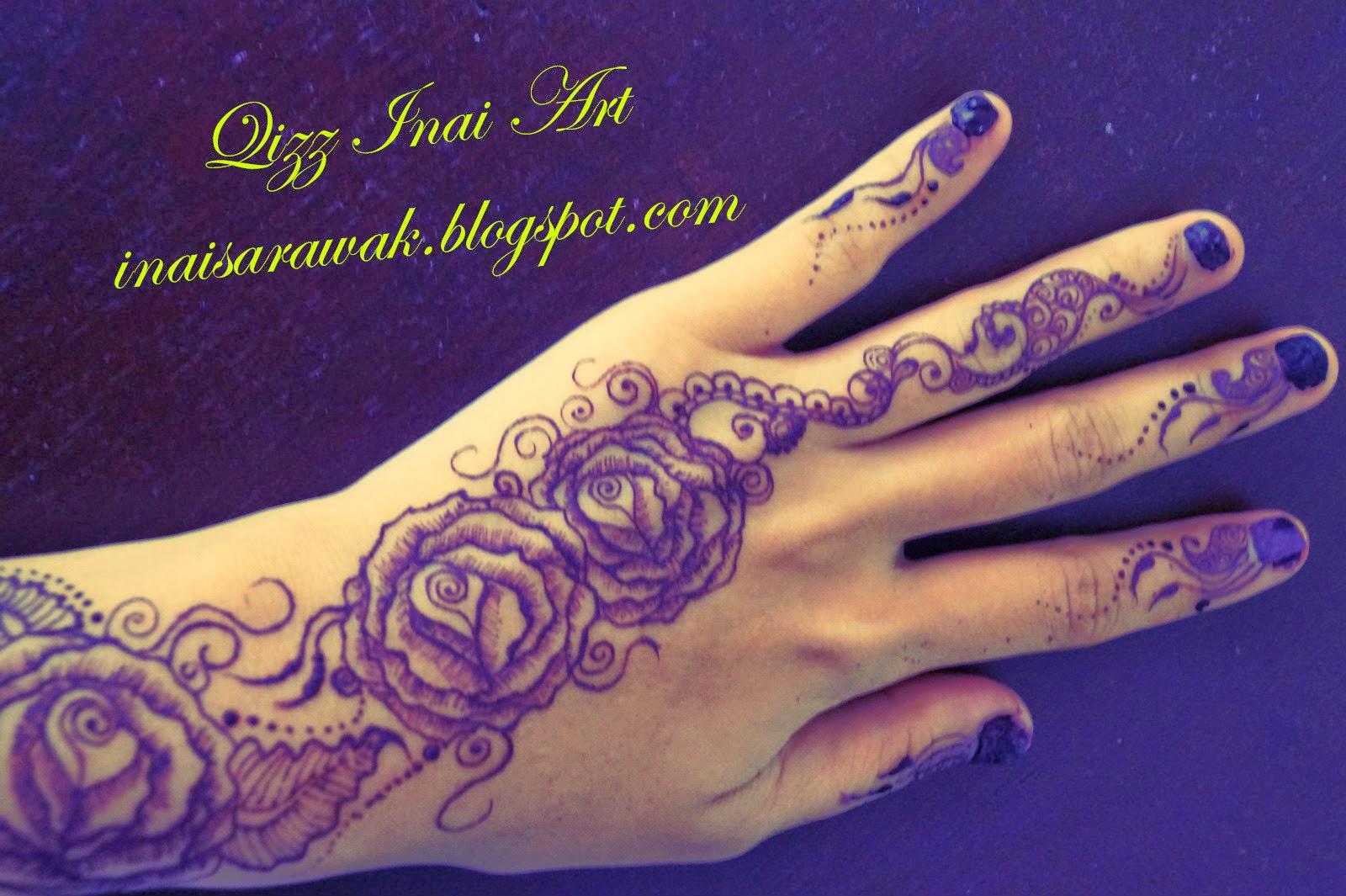 Qizz Inai Art Roses Henna