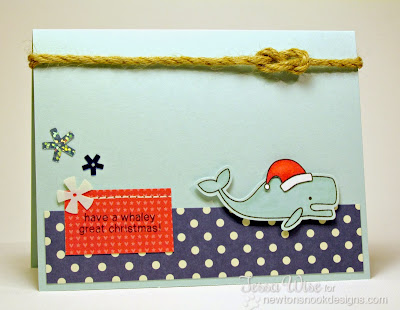 Whaley Great Christmas Card by Tessa Wise for Newton's Nook Designs