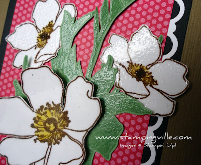 Clear Embossing Technique over Fabulous Florets Stamp Set
