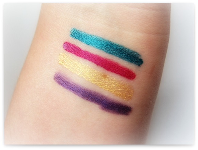 Maybelline Master Chromatic Eyeliners Swatches