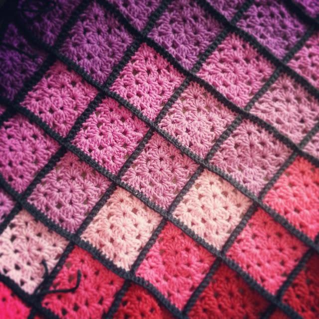 Crochet granny square afghan