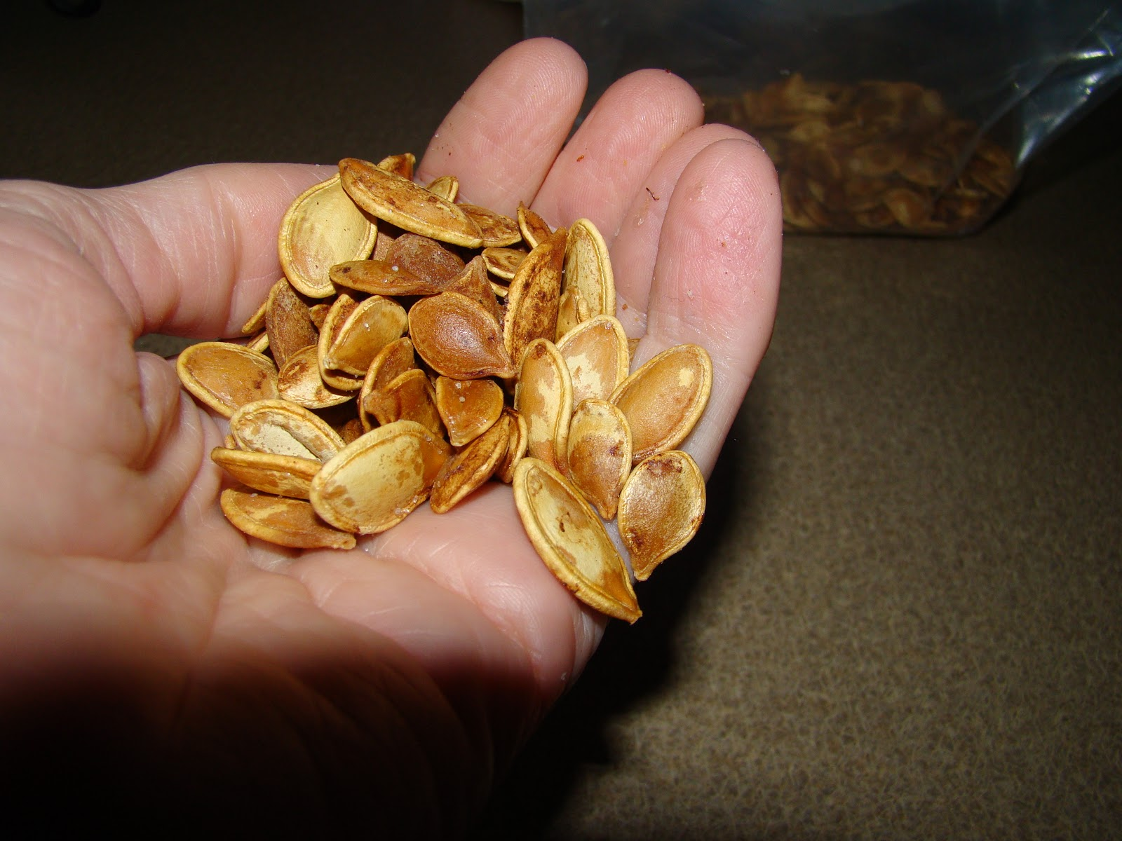 how to keep pumpkin seeds dry
