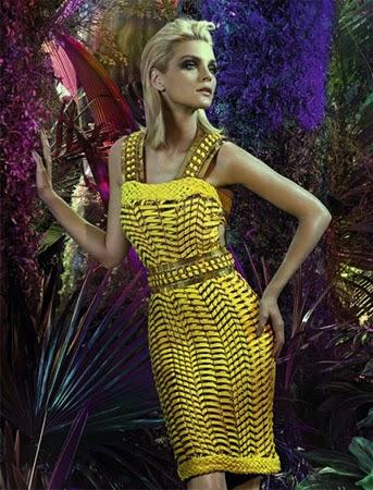 Lança Perfume verão 2015 coleção vestido trançado