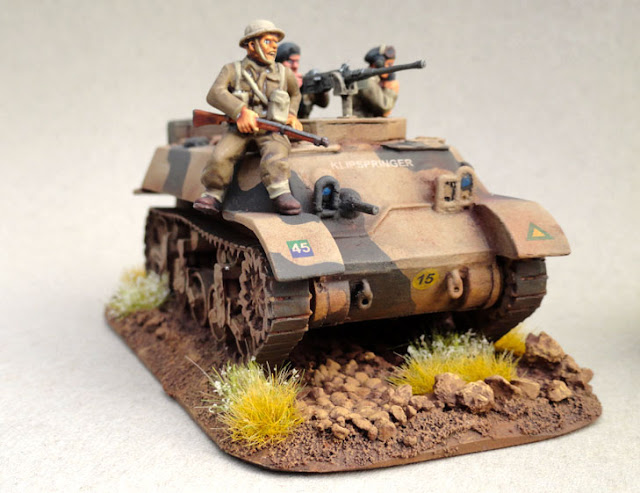 28mm, 1/56th, 1:56, Stuart M3A3, Recce, Natal Mounted Rifles, South African 6th Armoured Division, Italian Campaign, 1944, Company B