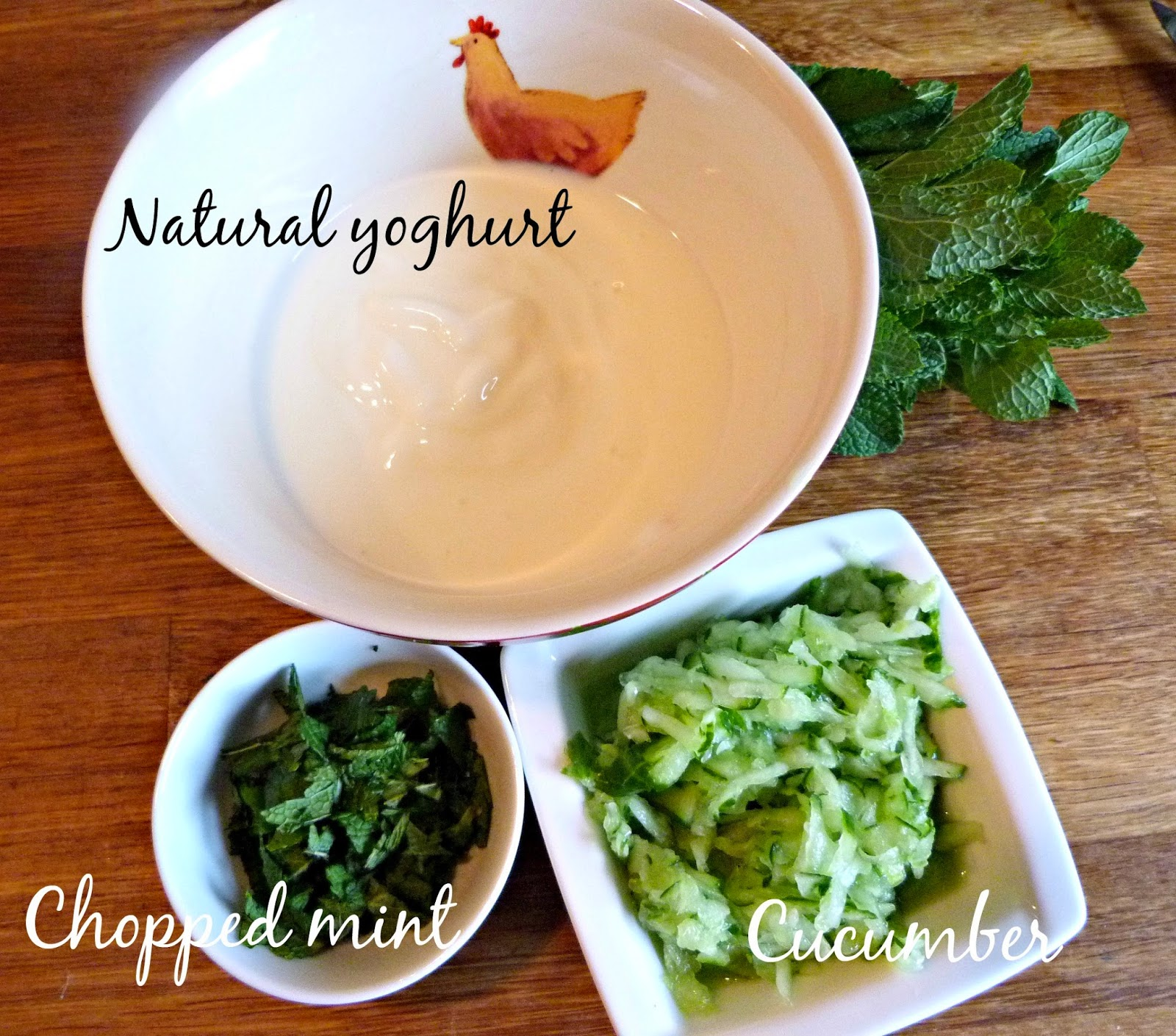 Mint raita ingredients