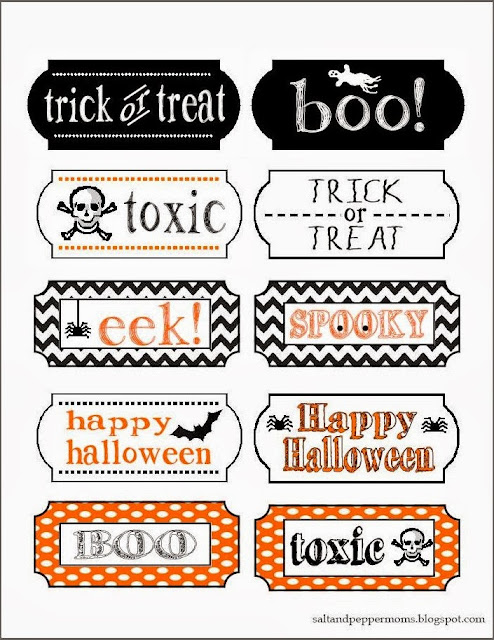 graphic relating to Printable Halloween Tag named 20 cunning times of halloween) cost-free spooky tag printables