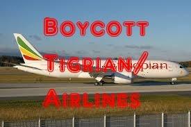 BoyCott Ethiopian/Tigrian Airlines