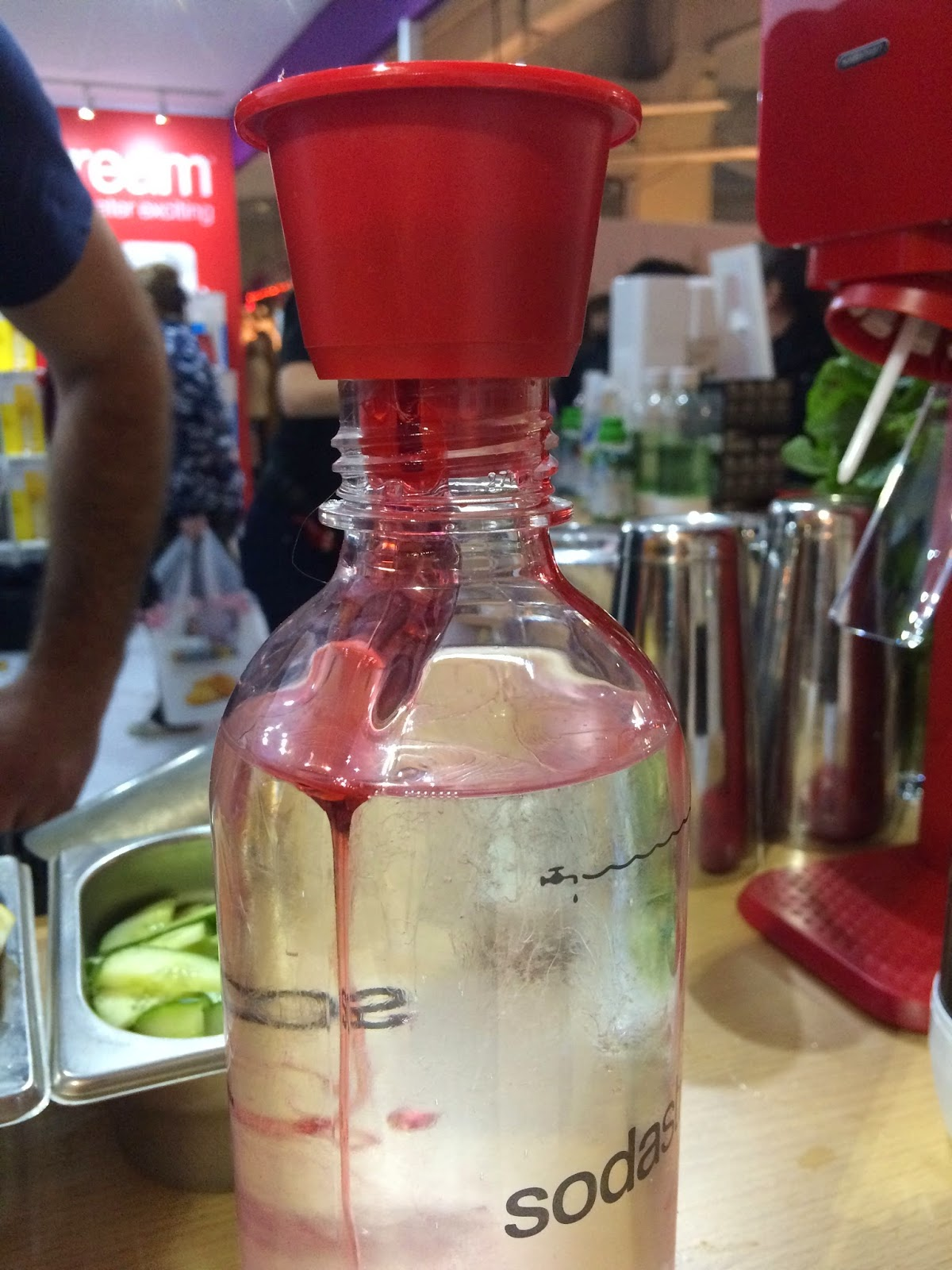 SodaStream Soda Cap dispensing Mocktail Cosmopolitan flavour
