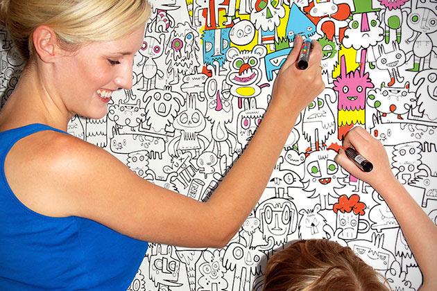 Burgerdoodles – Papel de pared para colorear haran del pintar una diversión para tus niños!