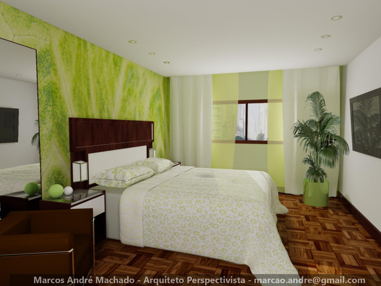 Marcos Machado Arquiteto Quarto Vermelho Quarto Verde  ~ Quarto Verde Com Vermelho