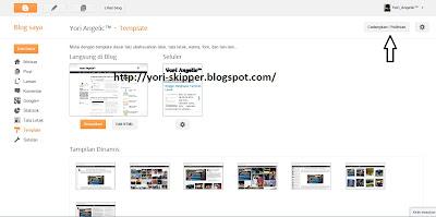 Membackup Template pada tampilan baru blogger