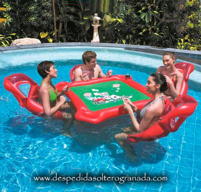 Juegos en el agua despedidas de soltero granada en blogger for Ideas para piscinas