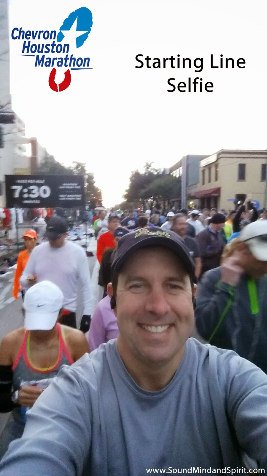 Starting Line Selfie  - A Chevron Houston Marathon Review