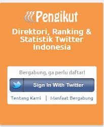 Pengikut.com: Direktori Pengguna Twitter Indonesia dengan Statistik & Ranking