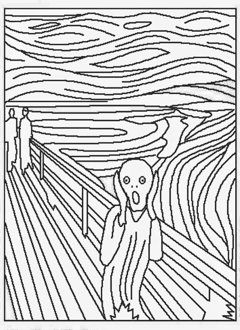 Asombroso Ilustraciones Famosas Para Colorear Adorno - Dibujos Para ...