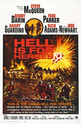 Waar bandnaam Hell is for Heroes vandaan komt - Hell is for Heroes 1962 Poster Steve Mcqueen