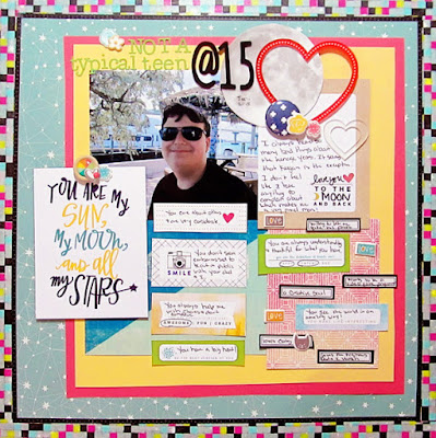 Christy Strickler for Simple Scrapper, Scrapbook Layout about a teen