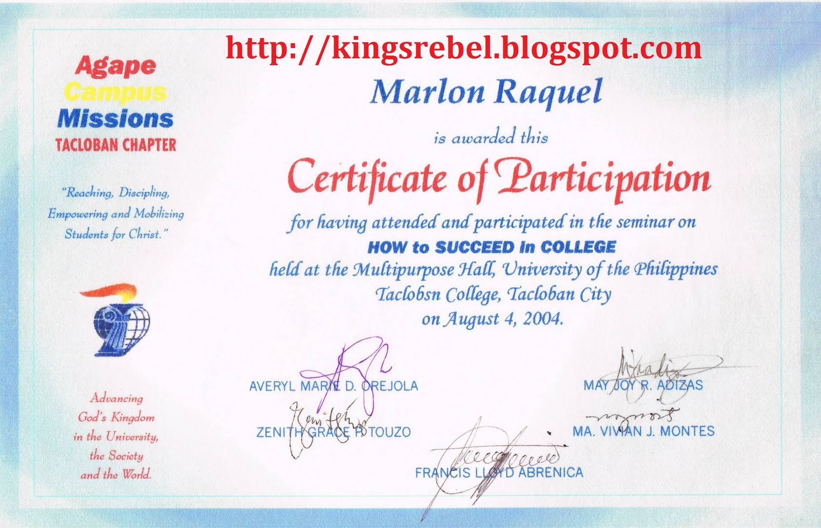 Tidbits and bytes example of certificate of participation how tidbits and bytes example of certificate of participation how to succeed in college seminar yadclub Gallery