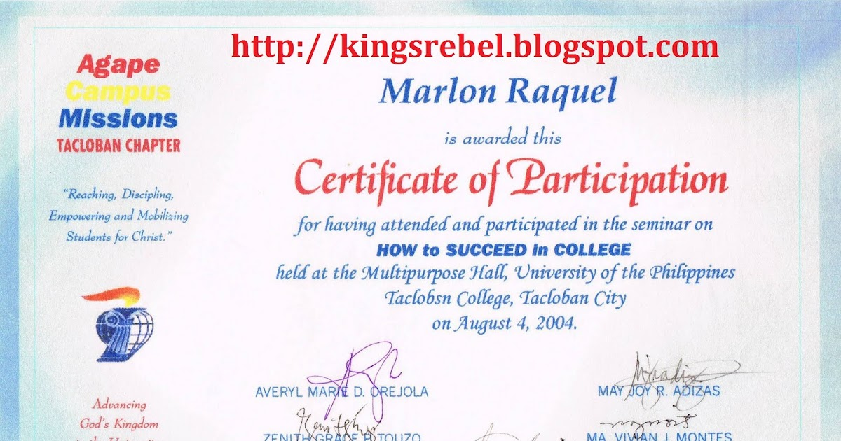tidbits and bytes  example of certificate of participation