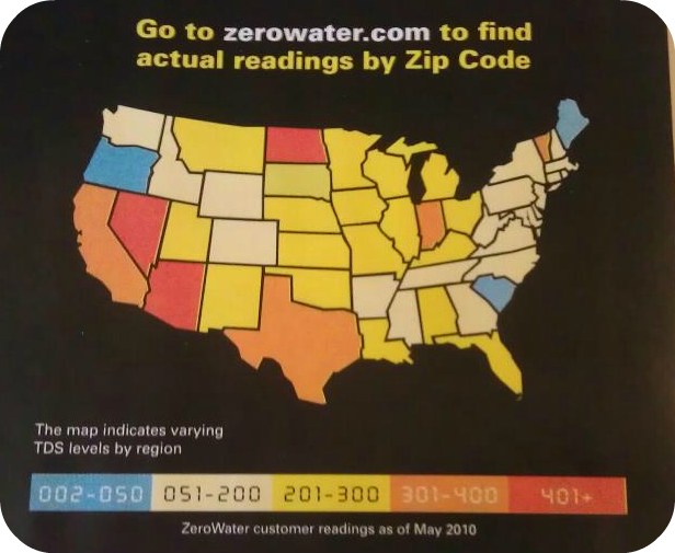 Indecisively Made Up Zero Water - Us water tds map