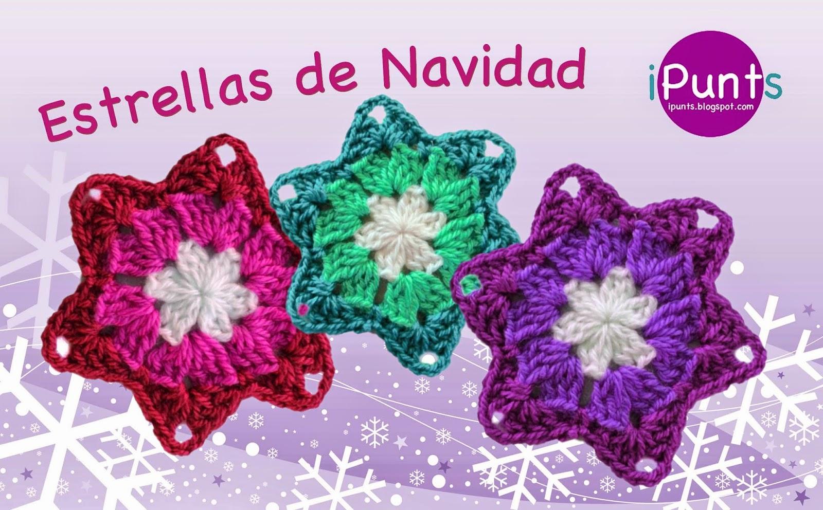 iPunts: Tutorial: Estrellas de Navidad a crochet