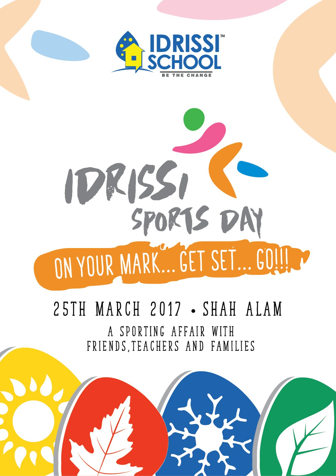 sports day poster template - idrissi international school our very first sports day