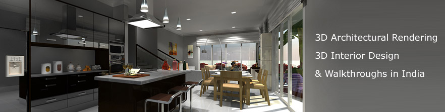 3D Architectural Rendering - 3D Interior Design & Walkthroughs  in India