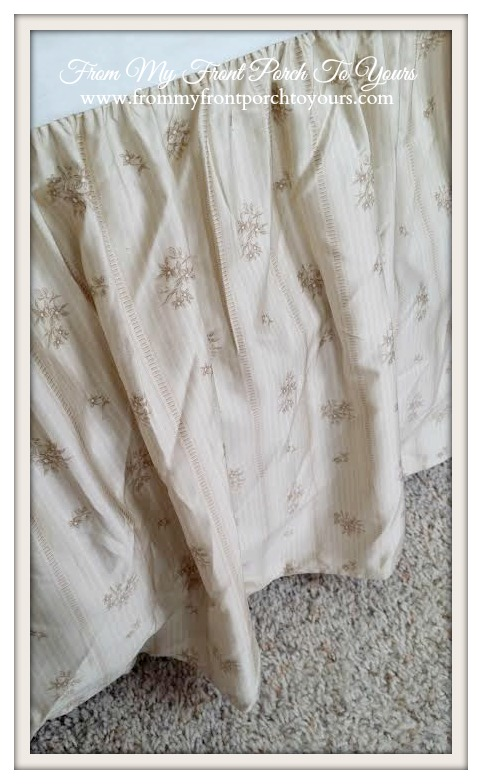 From My Front Porch To Yours- French Farmhouse Bedroom Ralph Lauren bedskirt