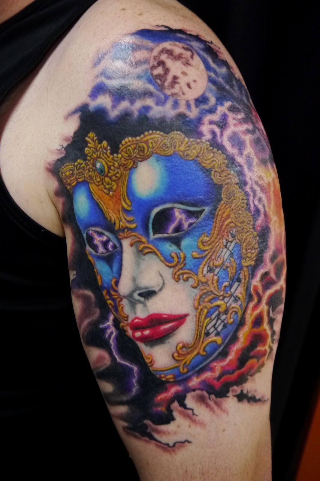 Венецианская маска татуировка фото