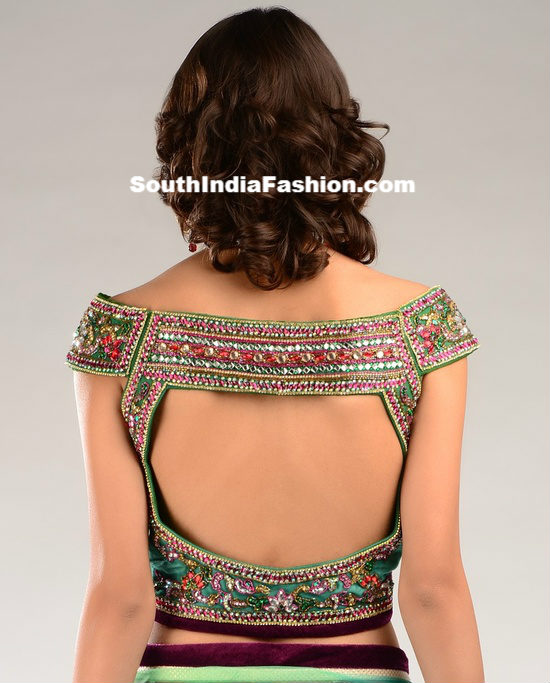 latest blouse back neck designs � south india fashion