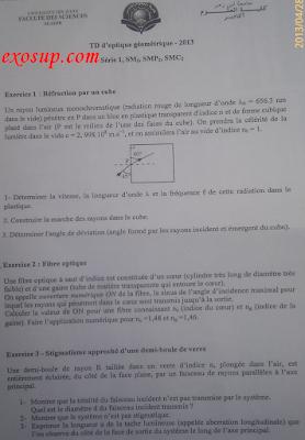 les séries d'optique géométrique + corrigés