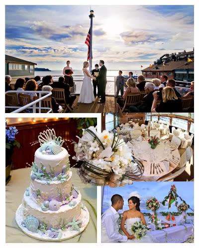 истинско сватбено празненство в откритият океан