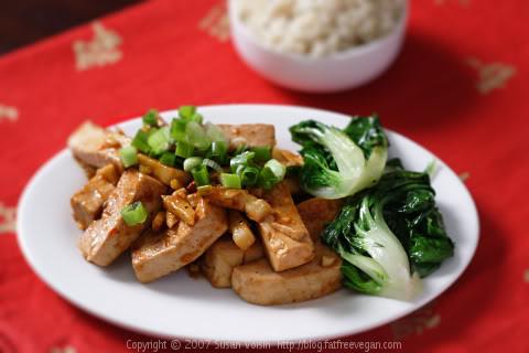 Japanese Tofu Mushroom Dish