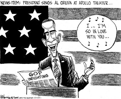 Obama singing Al Green
