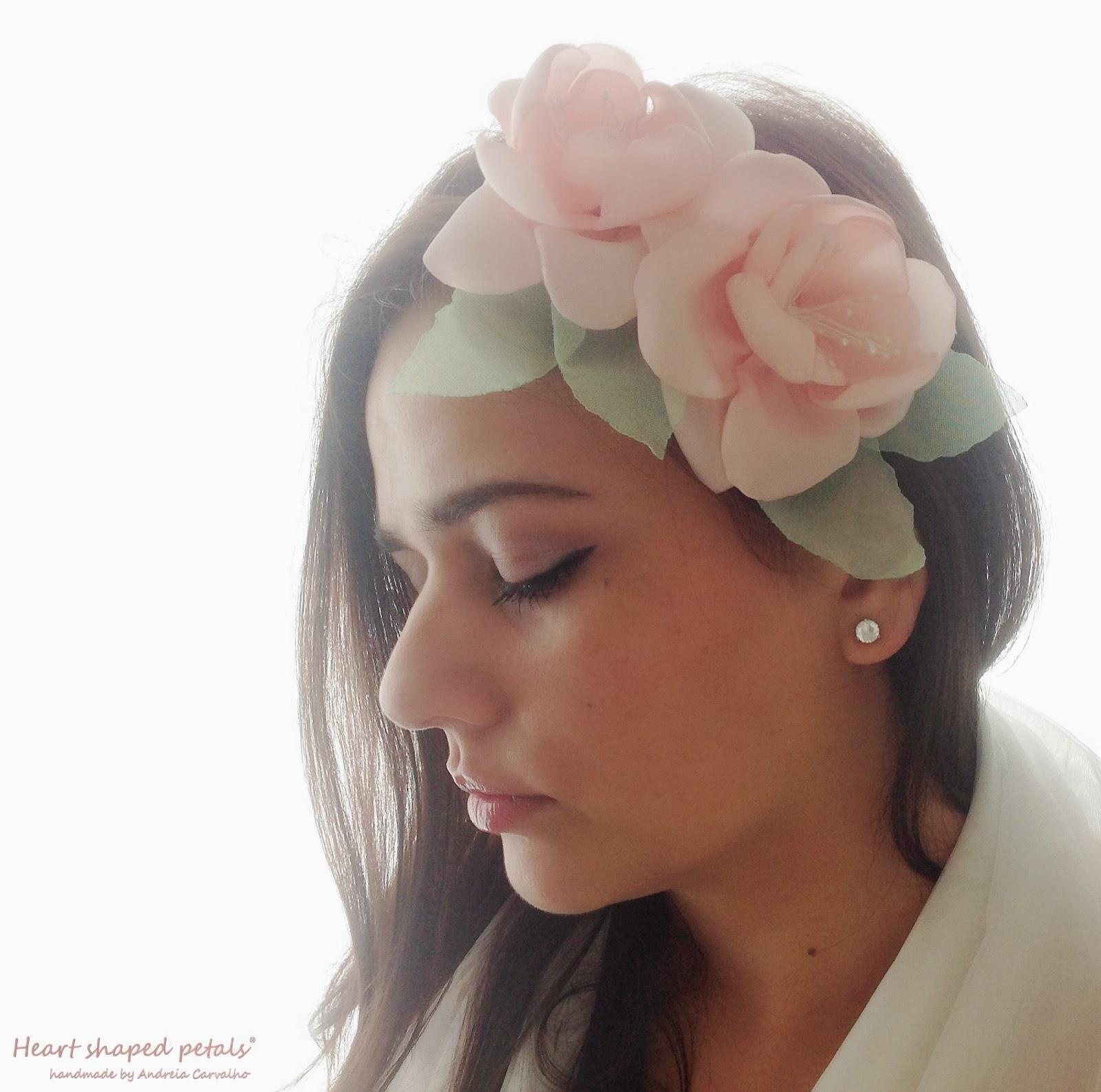 Bridal headband pink and mint