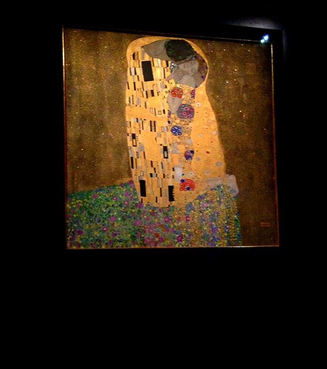 картина Густава Климта «Поцелуй»