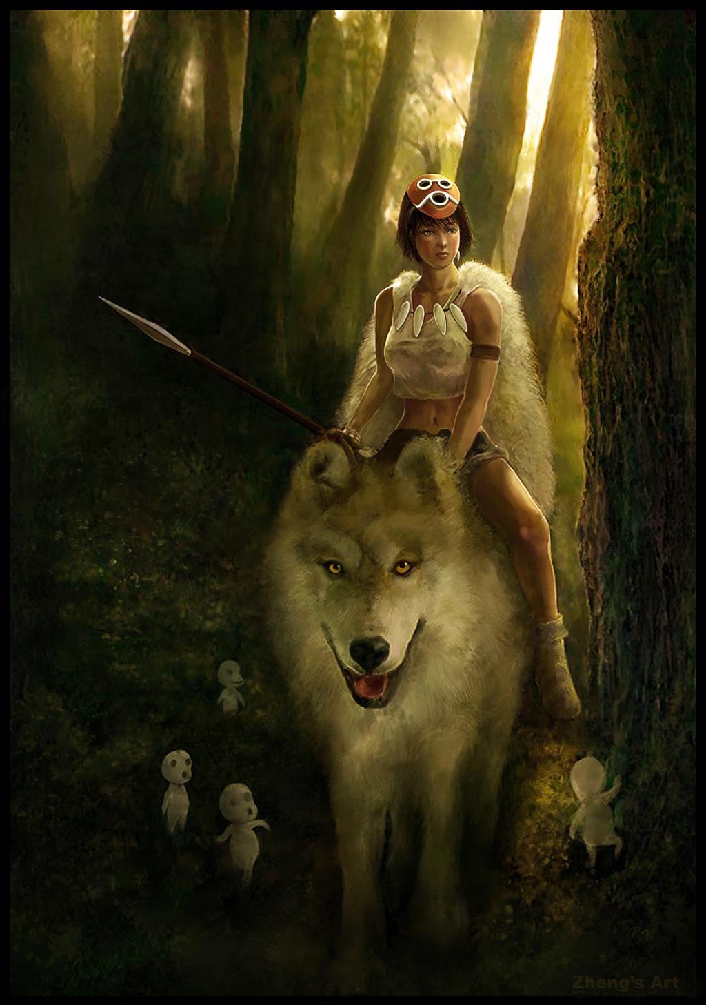 The Geeky Nerfherder: Movie Poster Art: Princess Mononoke ...