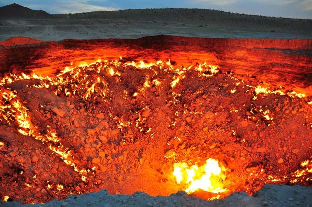 The natural gas hole named the door to hell in Turkmenistan