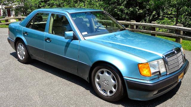 1992 mercedes w124 500e blue