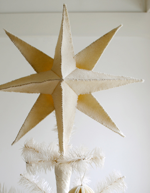 felt star tree topper425 Christmas DIY Felt Decorations For Your Home