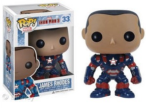 San Diego Comic-Con 2013 Exclusive Iron Man 3 James Rhodes Iron Patriot Pop! Marvel Vinyl Figure by Funko