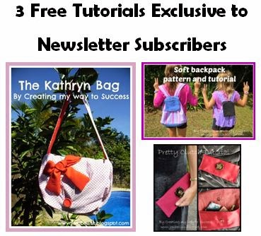Sign up for my monthly newsletter - click the picture