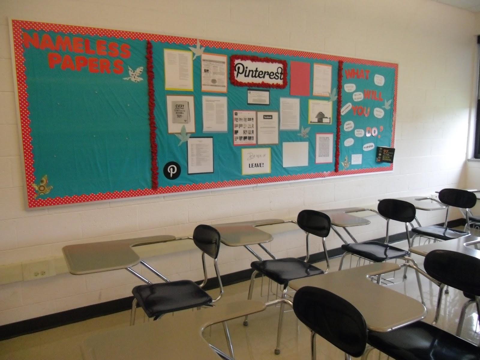 Classroom Board Design ~ M print bulletin board design on a dime