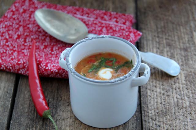 Zupa z soczewicy i papryki