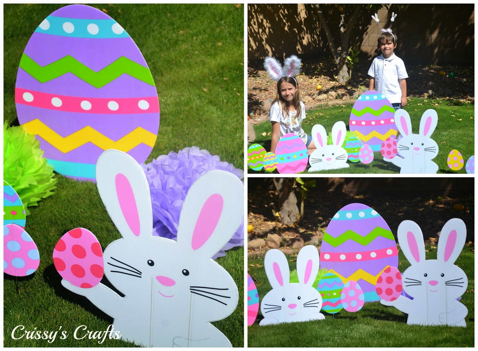 Crissy 39 s crafts spring easter celebration ideas for Spring yard decorations