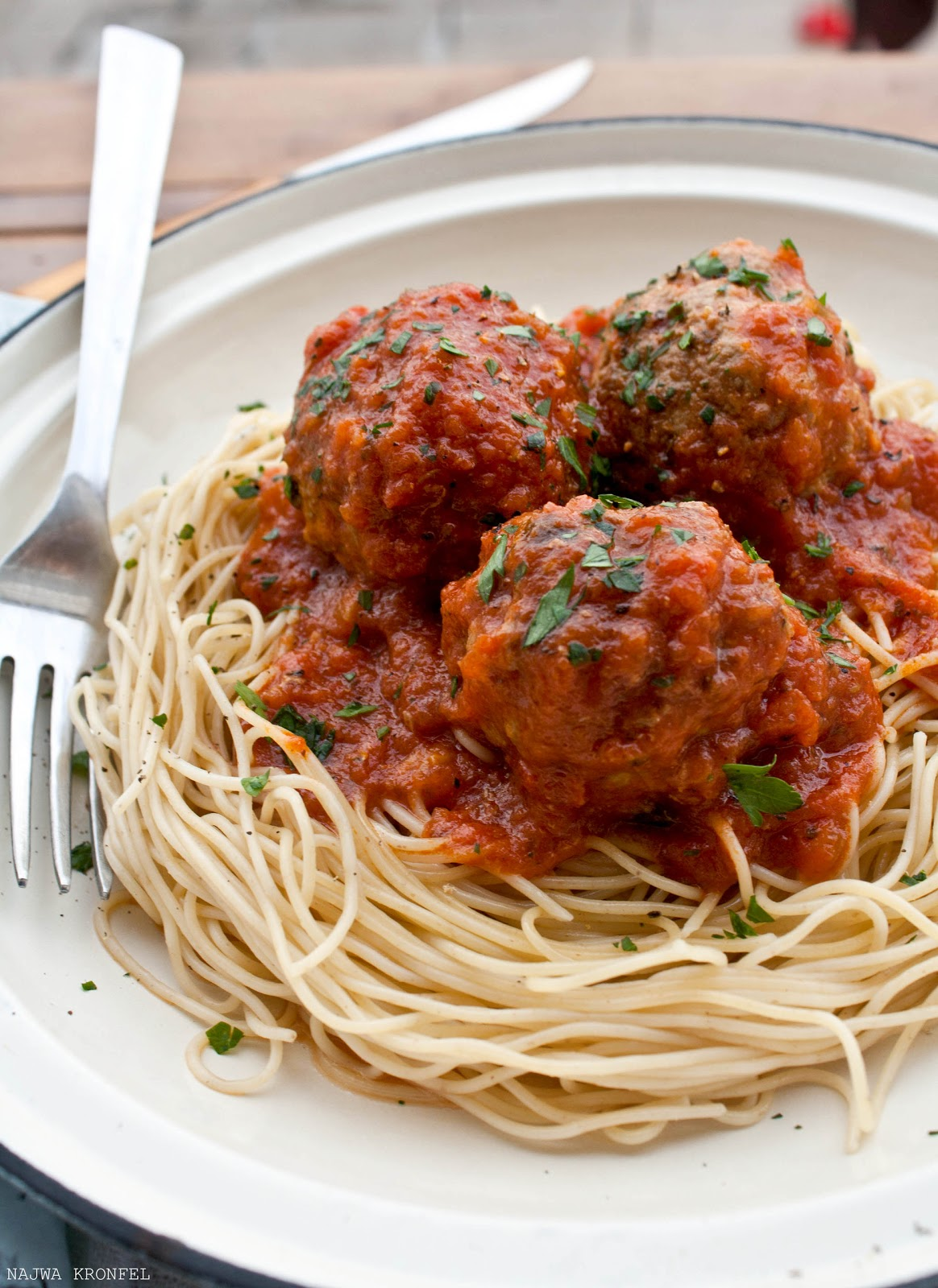 Delicious Shots: Spaghetti with Meatballs