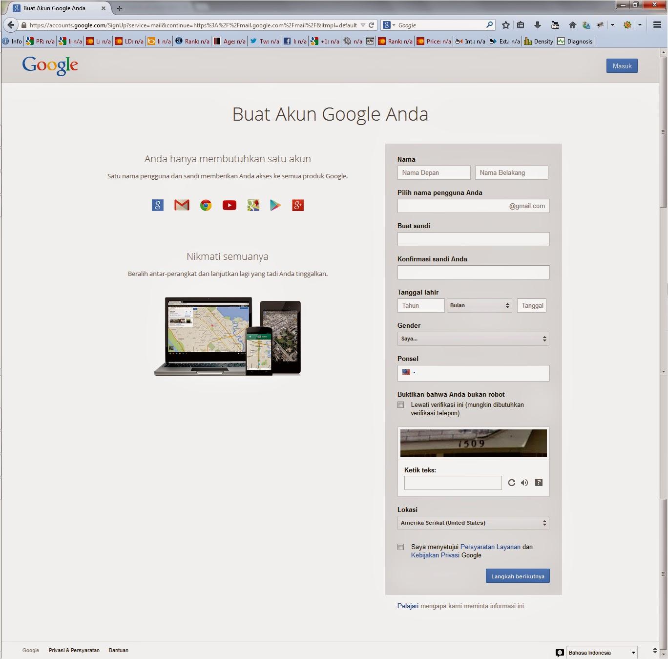 cara membuat email google baru