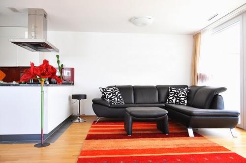 karpet lantai ruang tamu model rumah modern