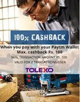 Tolexo : Get 100% Cashback Max. Rs.200 On Your Paytm Wallet