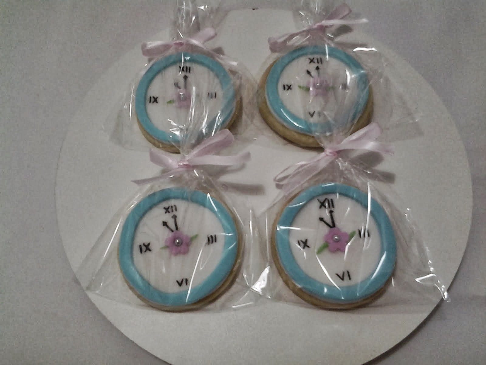 Biscoito decorado relógio da Cinderela
